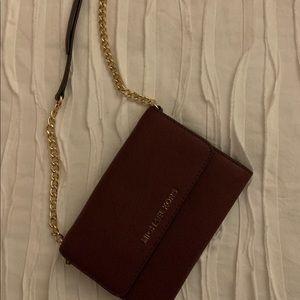 Michael Kors Burgundy Wallet Crossbody